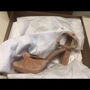 """Joie heels 5"""" brand new pink velvet brand new"""